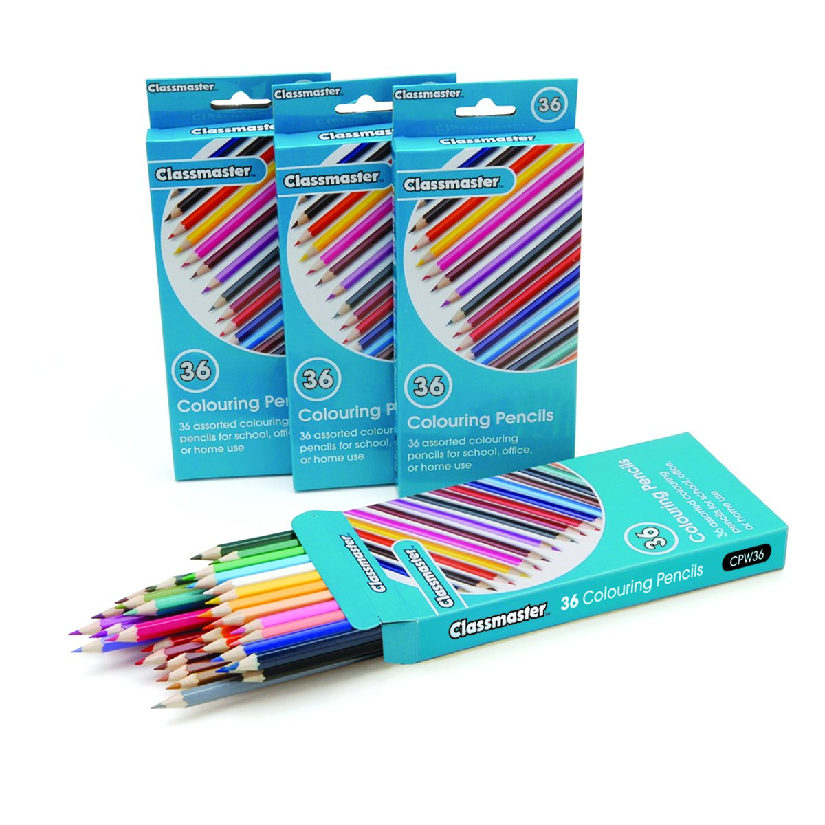 Classmaster CPW36 Colouring Pencils, Assorted (Pack of 36) Eastpoint Global