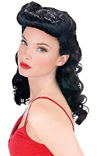 1940s Costumes- WW2, Nurse, Pinup, Rosie the Riveter Burlesque Beauty Wig Adult $13.48 AT vintagedancer.com