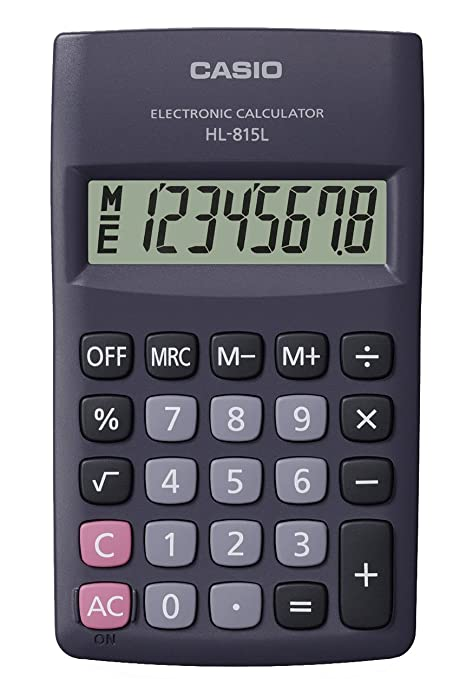 22 opinioni per CASIO HL-815L calcolatrice tascabile- Display a 8 cifre, con radice quadrata
