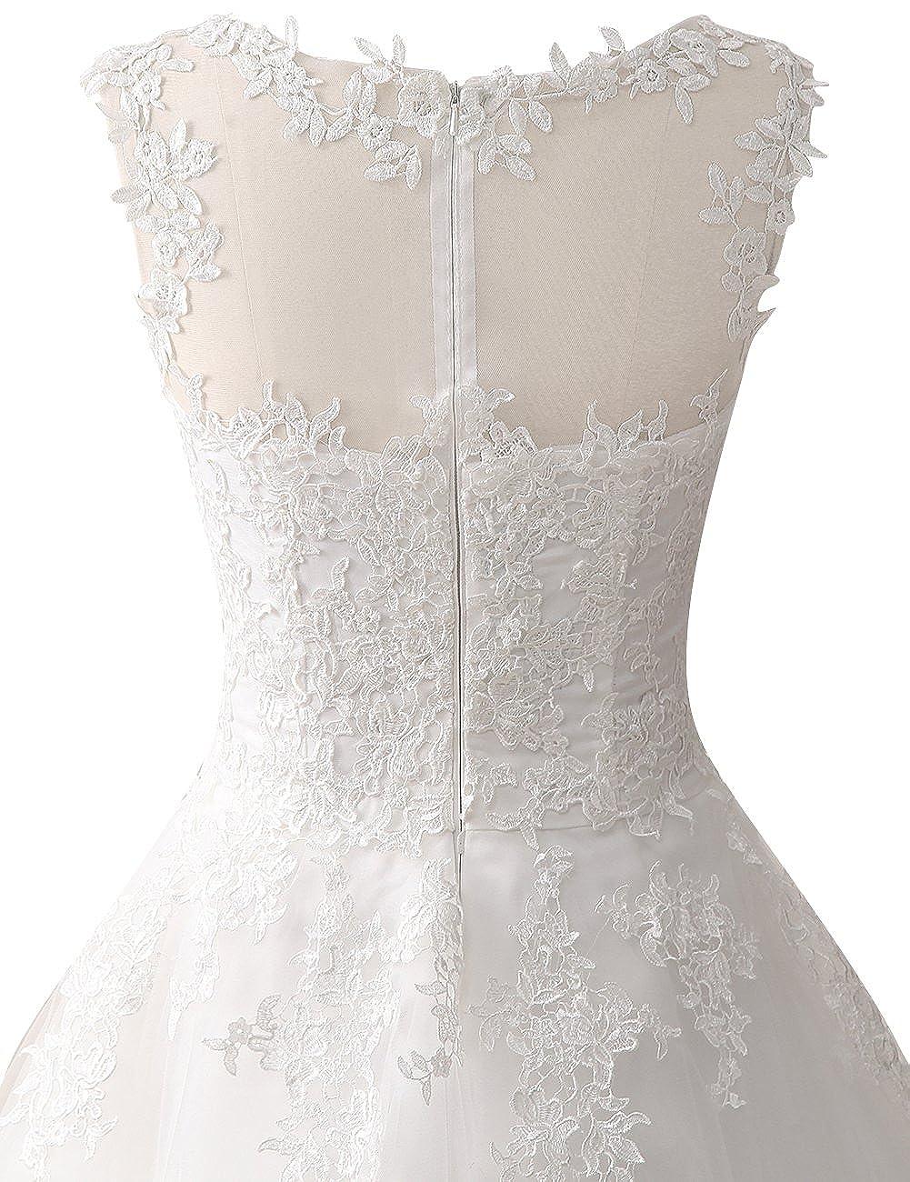 Wedding Dress Lace Bride Dresses Short Wedding Gown Tulle Vintage Bridal Gown Appliques