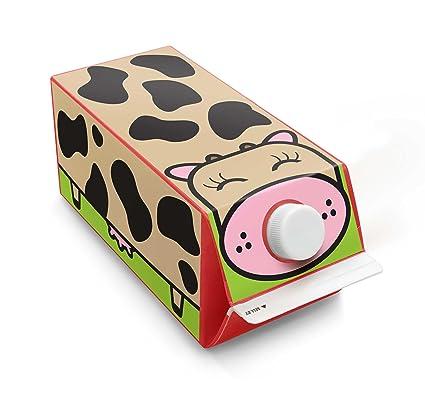 Caja de juego para niños pegatinas de cartón de leche de vaca