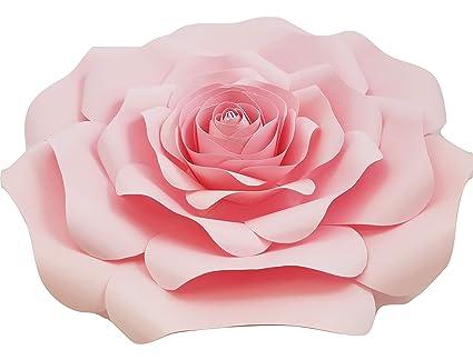 Decorinthebox Large Paper Flower 30cm 12 Inch Wedding Photography Flower Backdrop Birthday Wall Decor Fully Assembled Light Pink