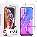 Teebo 2-Pack Mica Protector de Pantalla para Samsung Galaxy A20s, Vidrio Cristal Templado Protector Pantalla para Xiami Redmi