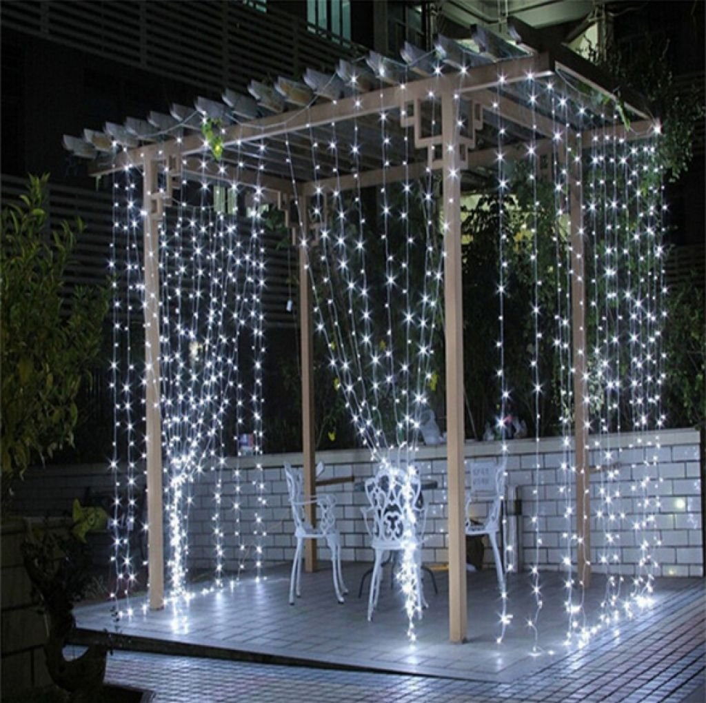 Window Curtain Icicle Lights, Wellinterest 304 LEDS String Fairy Starry Twinkle Stars Lights 9.8ft x 9.8ft with 8 Modes for Wedding Party Home Patio Lawn Garden Bedroom Outdoor Indoor Wall Lights