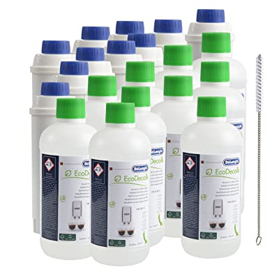 10QUVIDO x DeLonghi Détartrant 500ml + 10x DeLonghi Filtre à eau + Brosse de nettoyage