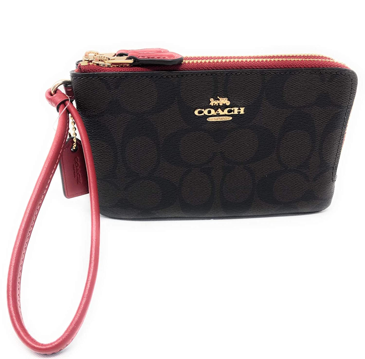 78f249c376446 Coach Double Corner Zip Wallet In Signature Coated Canvas IM OG7 Brown Ruby   Amazon.ca  Clothing   Accessories