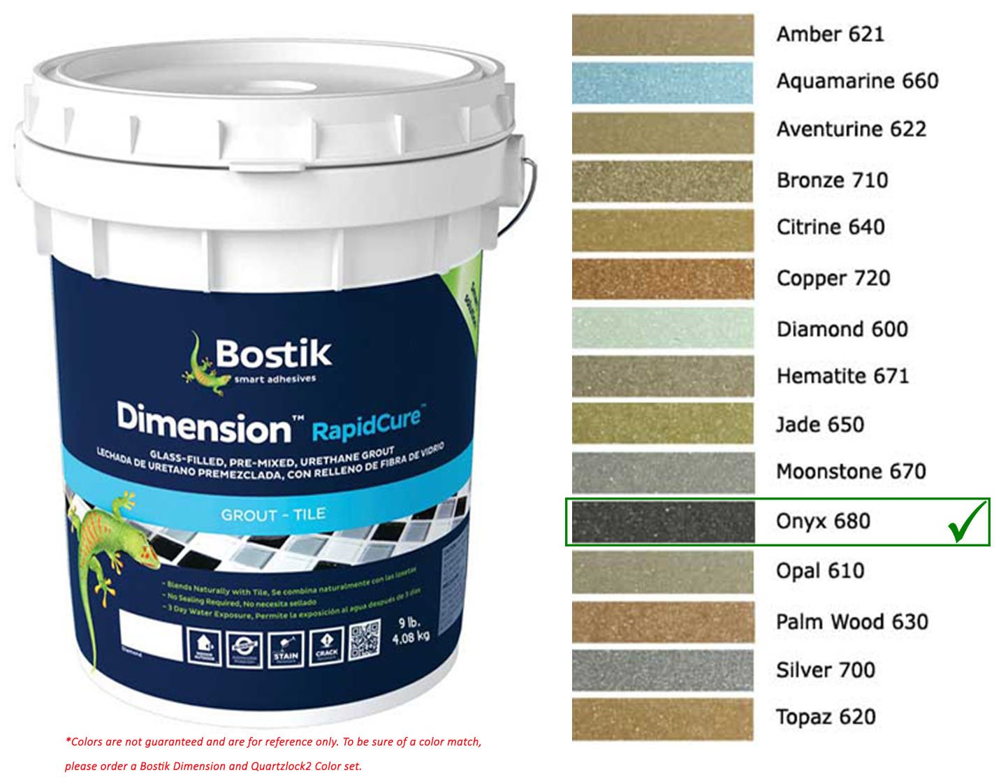 Bostik Dimension StarGlass Grout 680 Onyx 9 lbs