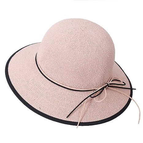 AJOG Donna Cappello da Sole Protezione Solare Cappello da Spiaggia per  Occhiali da Sole e8b4e8c40cce