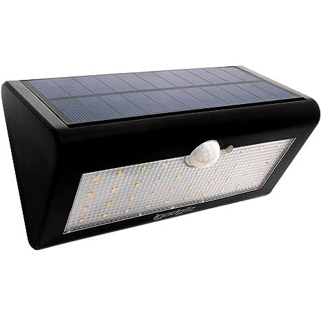 igadgitz U4686 - 38 LED 600 Lm Luz Solar Exterior Sensor de Movimiento PIR Impermeable Lámpara