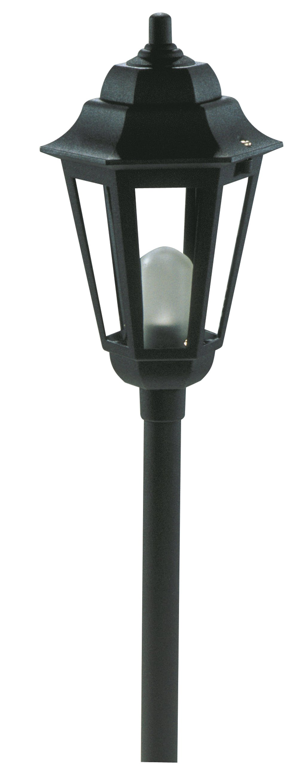 Paradise by Sterno Home Low Voltage Cast Aluminum 10-Watt Halogen Savana Post Fixture, Black