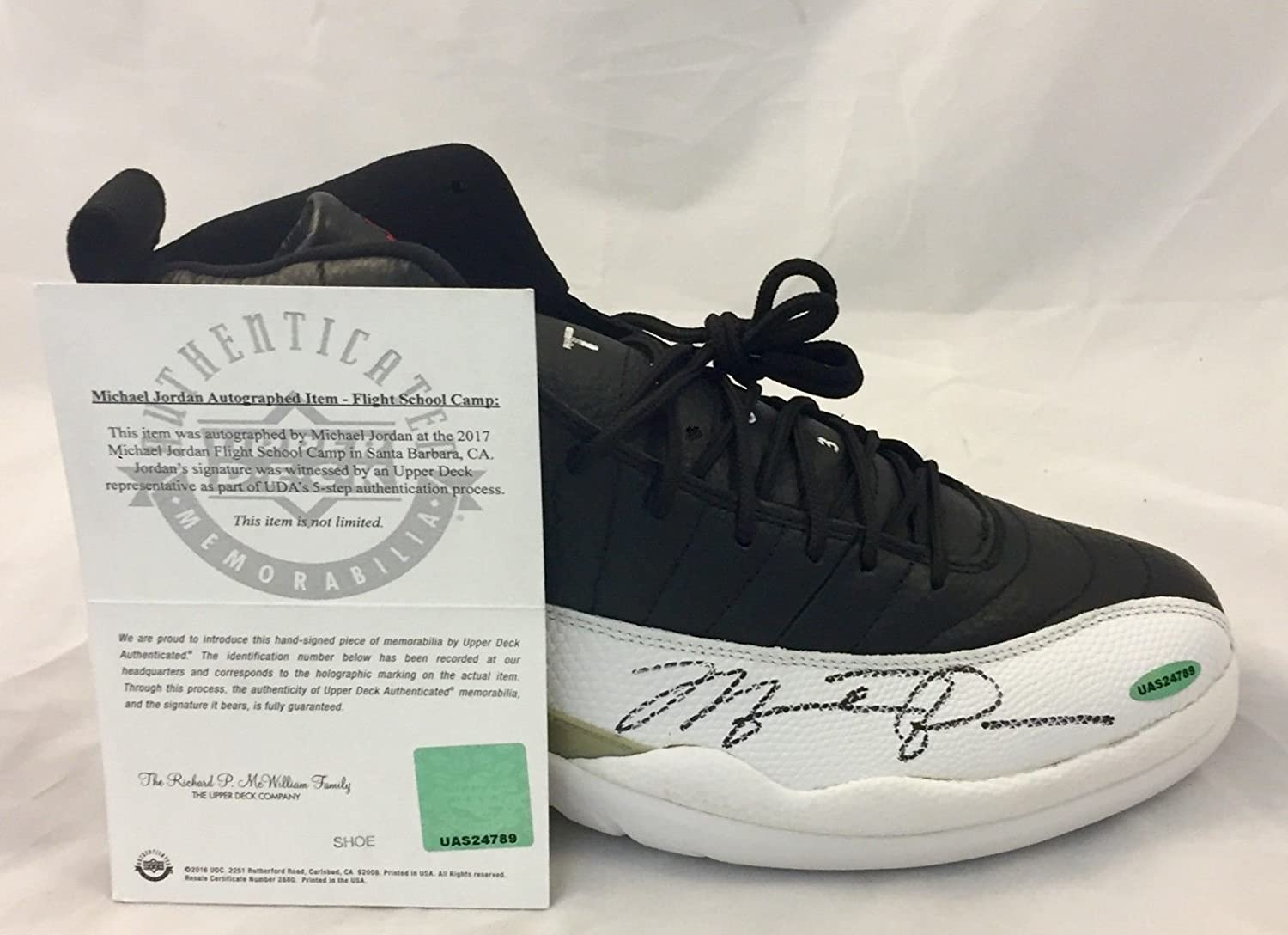 3ad9a3758a79 Autographed Michael Jordan Signed Air Jordan 12 Shoe Upper Deck  Certifiedated Uas24789 at Amazon s Sports Collectibles Store