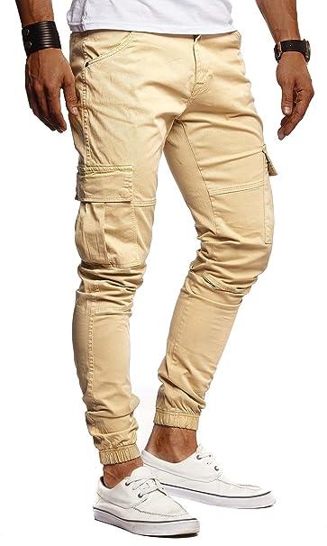 LEIF NELSON Pantalones de los Pantalones Vaqueros Chino ...