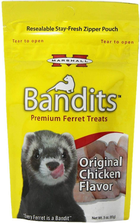 Marshall Bandits Ferret Treat Chicken 1.875lbs (10 x 3oz) by Marshall