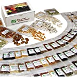 Survival Essentials' Premium 135 Variety Heirloom Seed Bank: 23,335+ Non-Hybrid, Non-GMO Heirloom Seeds.Veggies, Fruits…