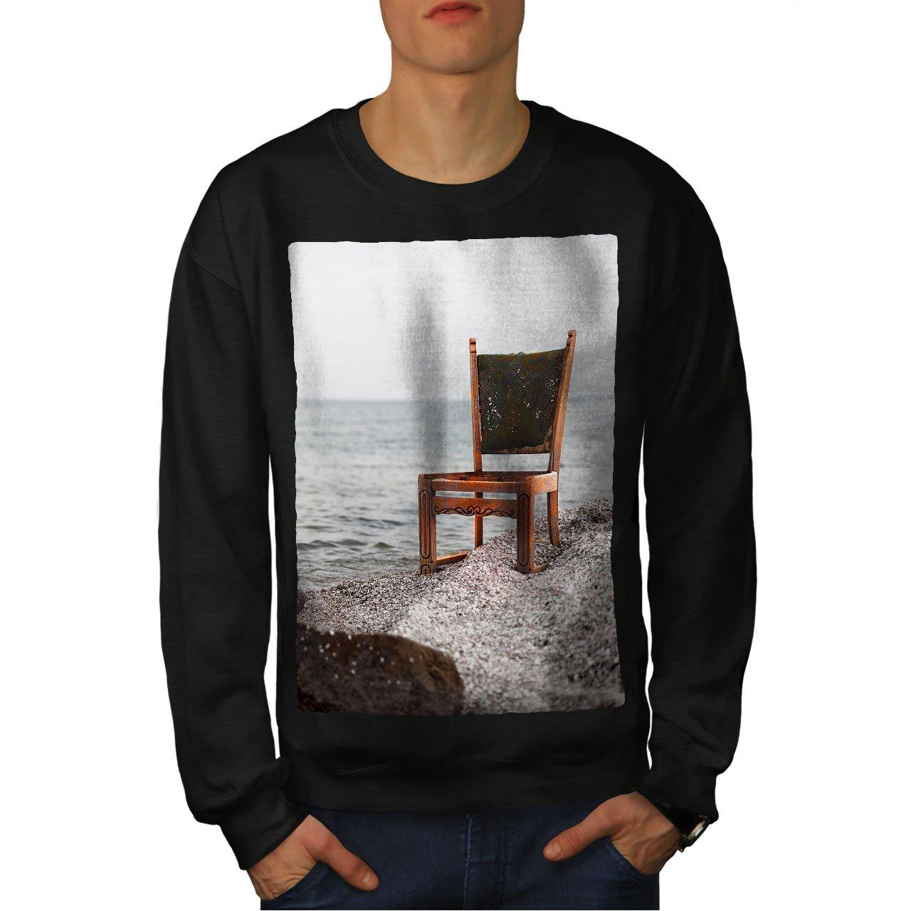 wellcoda Ocean Art Photo Nature Mens Sweatshirt Ocean Casual Jumper