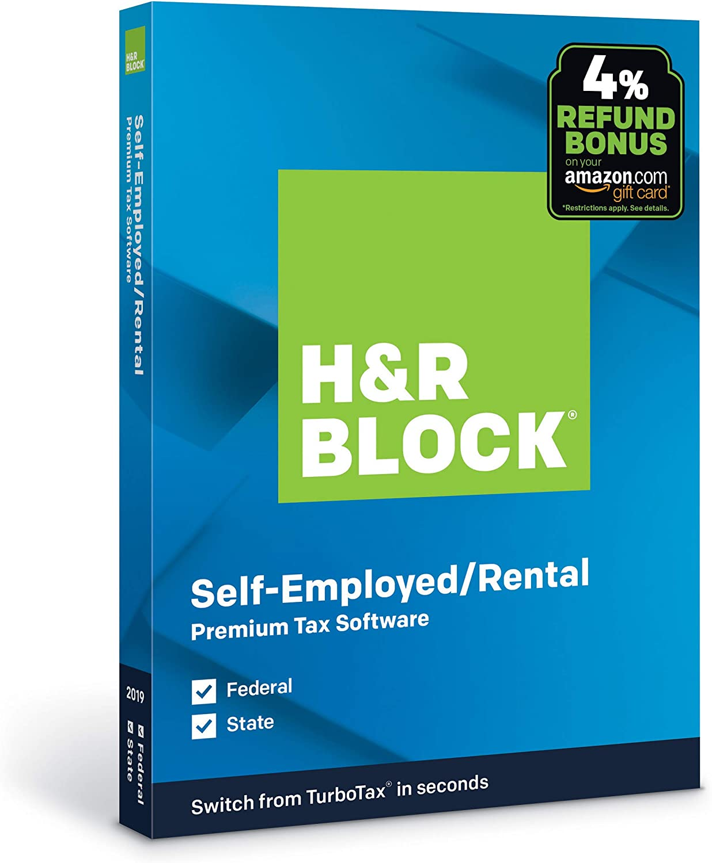 H&R Block Tax Software Premium 2019 with 4% Refund Bonus Offer[PC/Mac Disc]