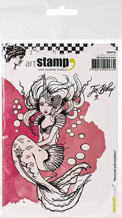 Amazon com: Carabelle Studio Cling Stamp A6 by Jen Bishop-Mermaid