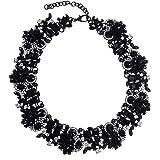 Jerollin collar mujer Fantasía ras de cuello Chain Oro y cristal Multi colores Bling Bling