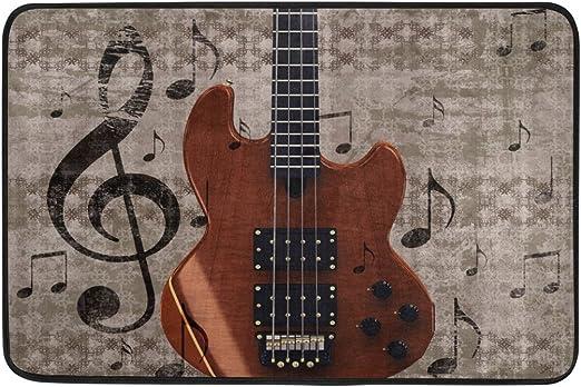 Use7 - Felpudo para Guitarra (60 x 40 cm), diseño Vintage con ...