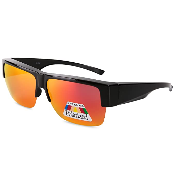 ec86f0f242 Image Unavailable. Image not available for. Color  EYEGUARD Fit Over  Polarized Lens Cover Sunglasses-Wear Over Prescription Glasses