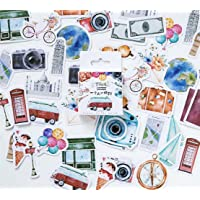 Pxio Fashion Lovely Stickers Beautiful Sticker Travel Landscape & Camera Sticker for Photo Album Laptop Diary Decorative(Set of Approx 45 pcs)