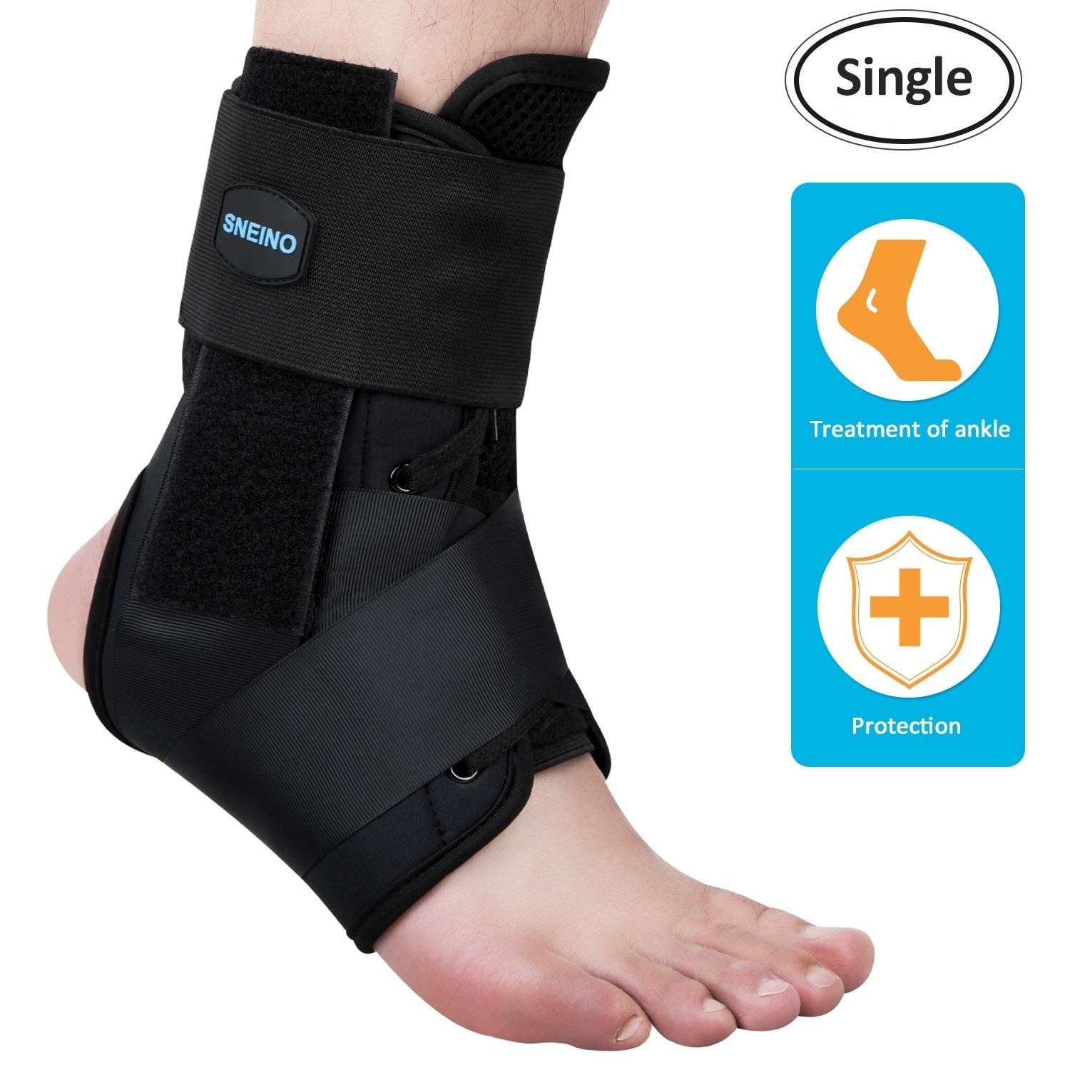 Ankle Brace Ankle Support Ankle Brace for Women Men Ankle Stabilizer Ankle Support Brace Stabilizer Lace up Kid Womens Sprained Ankle Brace for Women Men Ankle Braces Ankle Brace for Running - L