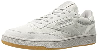 8958e33d58a9f1 Reebok Men s Club C 85 TG Fashion Sneaker Steel Carbon-Gum 7.5 ...