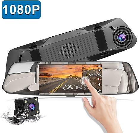 Rückfahrkamera 12 7 Cm 5 Zoll Spiegel Dashcam Touchscreen Full Hd 1080p Chortau Dual Dashcam Vorne Und Hinten Mit Wasserdichter Rückfahrkamera Mit Loop Aufnahme Und Park Monitor Navigation