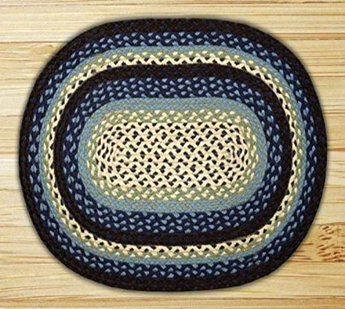Earth Rugs Oval Rug, 5 x 8 , Blueberry Cream