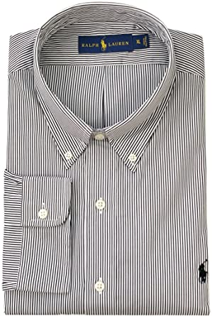 e0a7bebccb868b Polo Ralph Lauren Men's Classic-Fit Hairline-Striped Poplin Sport Shirt at Amazon  Men's Clothing store: