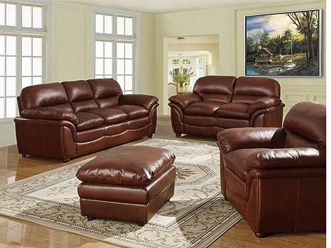 Heartlands Furniture Fernando Bonded Leather 3 Seater Sofa