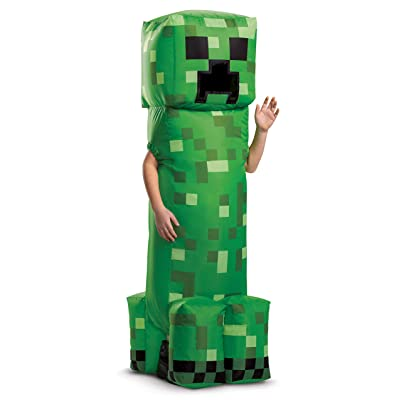 Disguise Minecraft Creeper Inflatable Costume: Toys & Games