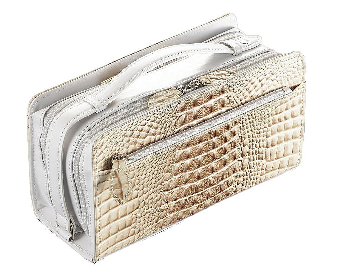 [メンズに人気のクラッチバッグ 本革(レザー/革)の鞄 クロコ型押し(クロコダイル) 財布や本など収納できるバッグ(バック) ビジネス用としてもおすすめ] クリスティーナAG 本革セカンドバッグ Wファスナークロコ型押