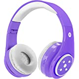 Kids Wireless Bluetooth Headphones Volume Limited 85db Stereo Sound Over-Ear Foldable Lightweight Children Headphones with Mic SD Card Slot up to 6-8 Hours Play time for Boys Girls Adults (Purple)