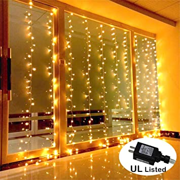 AMARS Safe Voltage Bedroom String LED Curtain Lights Waterfall Window Lights Outdoor Indoor LED Lights for  sc 1 st  Amazon.com & Amazon.com: AMARS Safe Voltage Bedroom String LED Curtain Lights ... azcodes.com