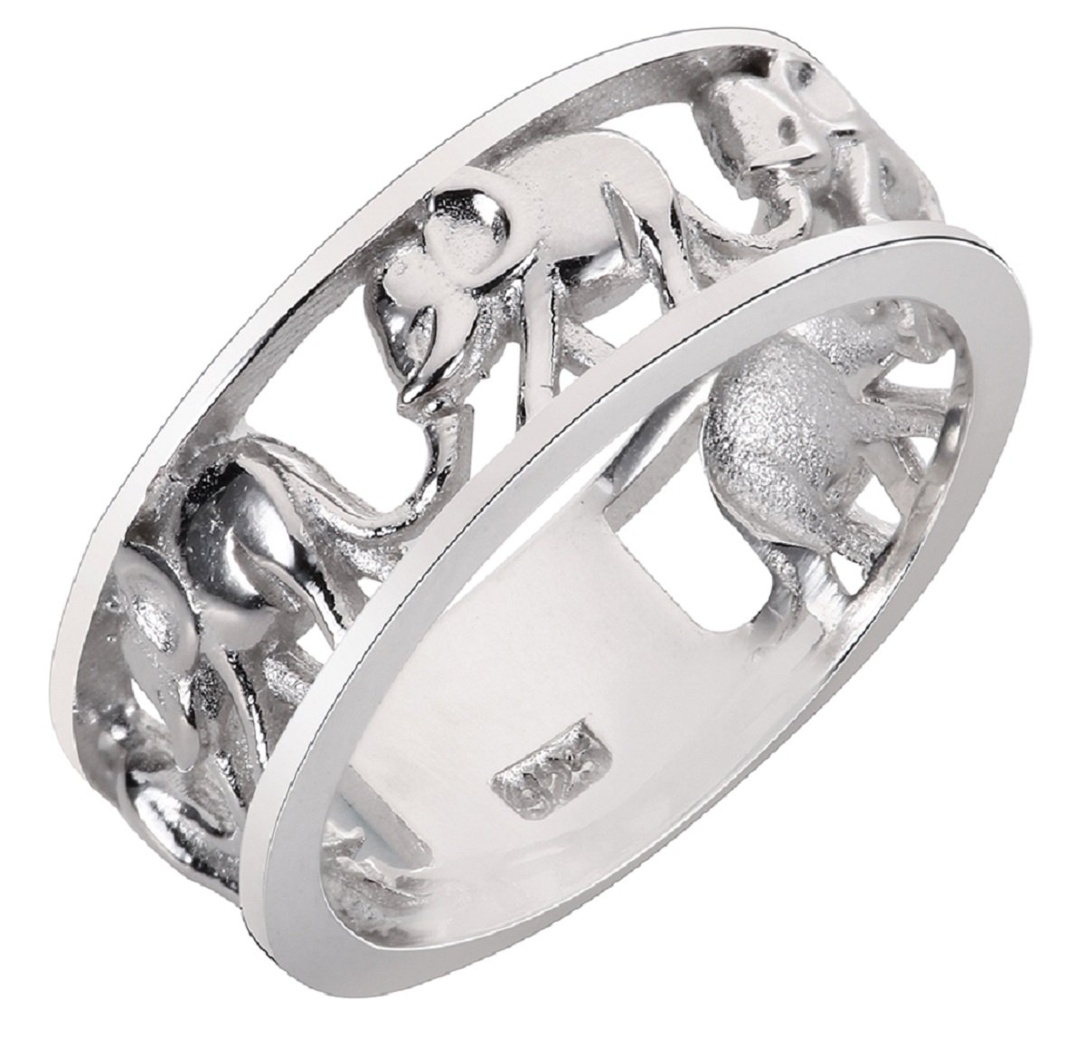 CloseoutWarehouse Sterling Silver Elephant Family Migration Ring 925 Size 11