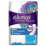 Always Discreet Inkontinenz Einlagen+ Long Plus Bei Blasenschwäche Einzelpack, 5er Pack (5 x 8 Stück)