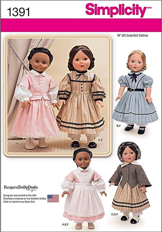 Simplicity Disfraz de Guerra Civil para muñeca de 45 cm de la ...