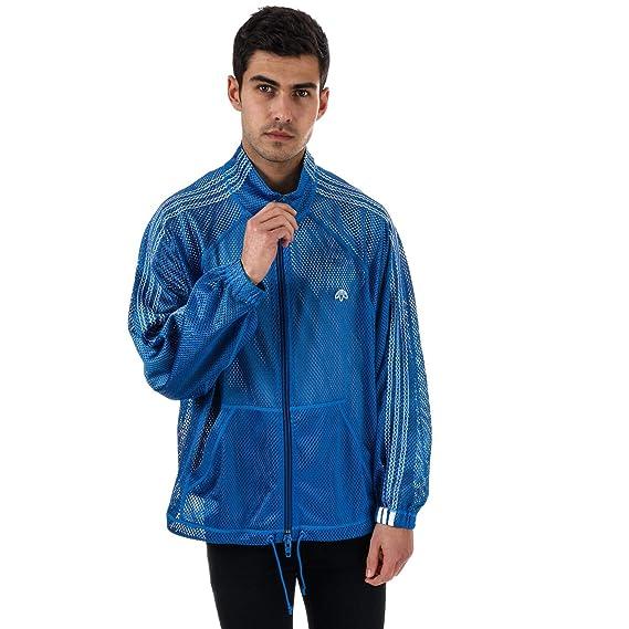c35e8430a04 adidas Originals Mens Alexander Wang Mesh Track Top in Blue  adidas  Originals  Amazon.co.uk  Clothing