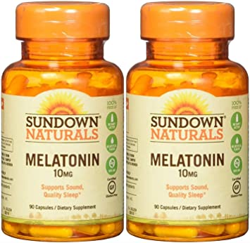 Amazon.com: Sundown Naturals Melatonina, 10 mg, Cápsulas, 2 ...