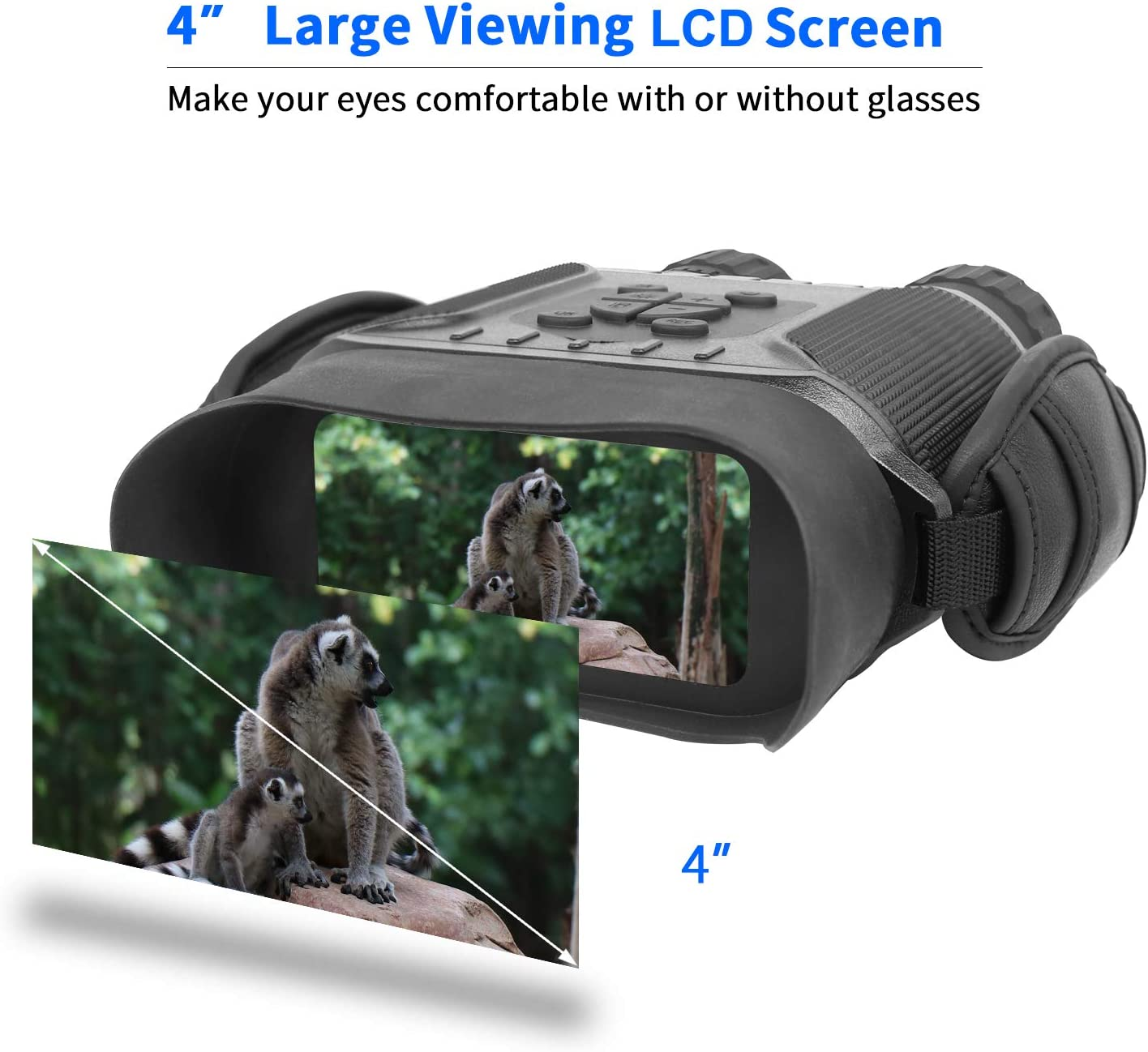 Bestguarder Night Vision Binoculars, 4.5-22.5 40 HD Digital Infrared Hunting Scope Record 5mp Photo 1280 720 Video with Sound by 4 Display Up to 400m 1300ft-Upgrade Version
