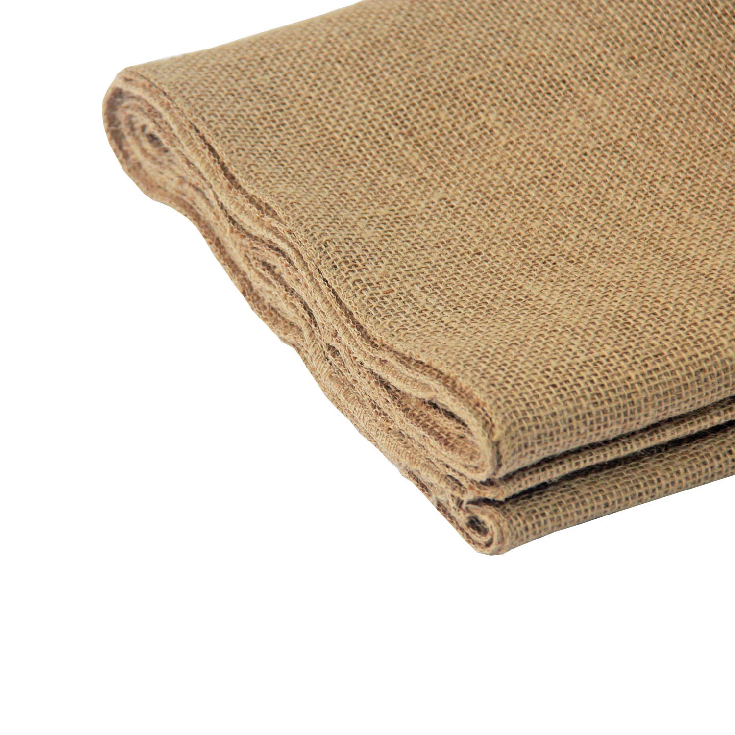 Natural 12 x 10 Yards Hessian Tablue Runner with Finised Edges Banquet Wedding Party Event Decoration and Crafts 12 x 10 Yards,1 Jute Burlap Table Runner Roll