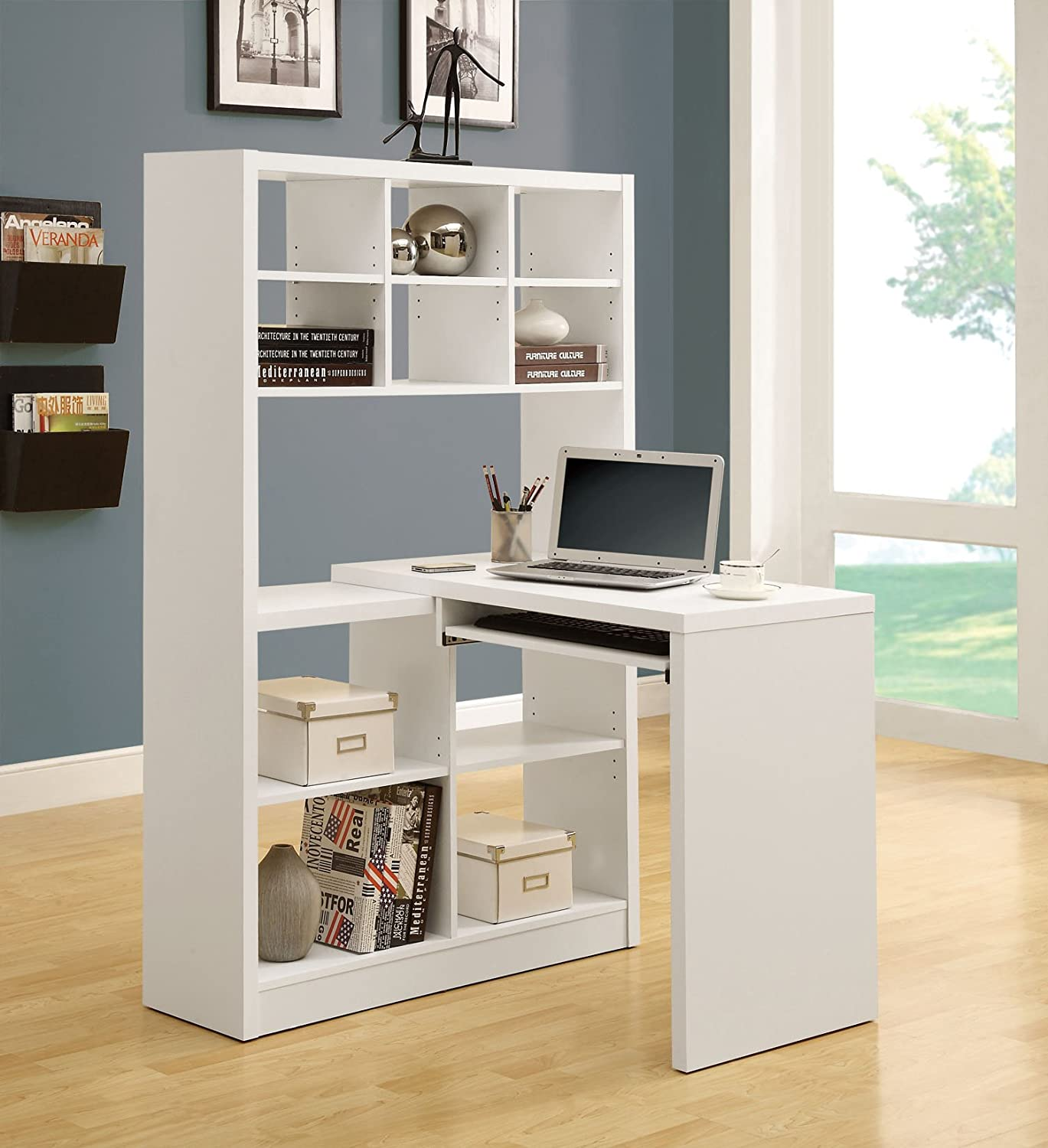 hutch made and in shelf shelving white hollow of cube monarch having facing pin left a right is with unit core shape wooden also corner combo specialties desk