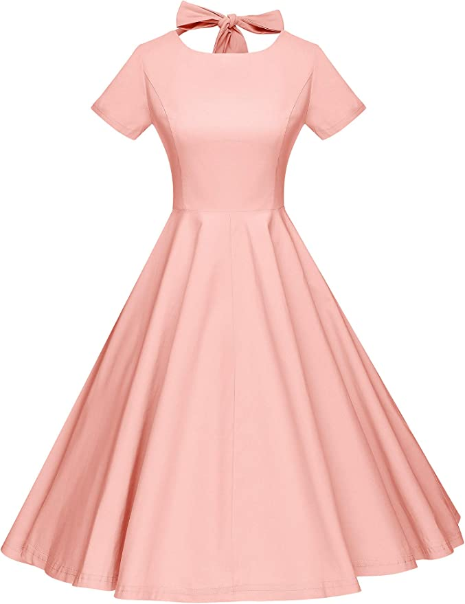 1950s Dresses, 50s Dresses | 1950s Style Dresses GownTown Womens 1950s Vintage Retro Party Swing Dress Rockabillty Stretchy Dress $32.99 AT vintagedancer.com