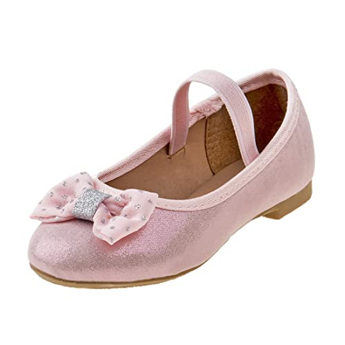8484e089647f Rugged Bear Girl  s Shimmer Ballet Flat with Glitter and Bow
