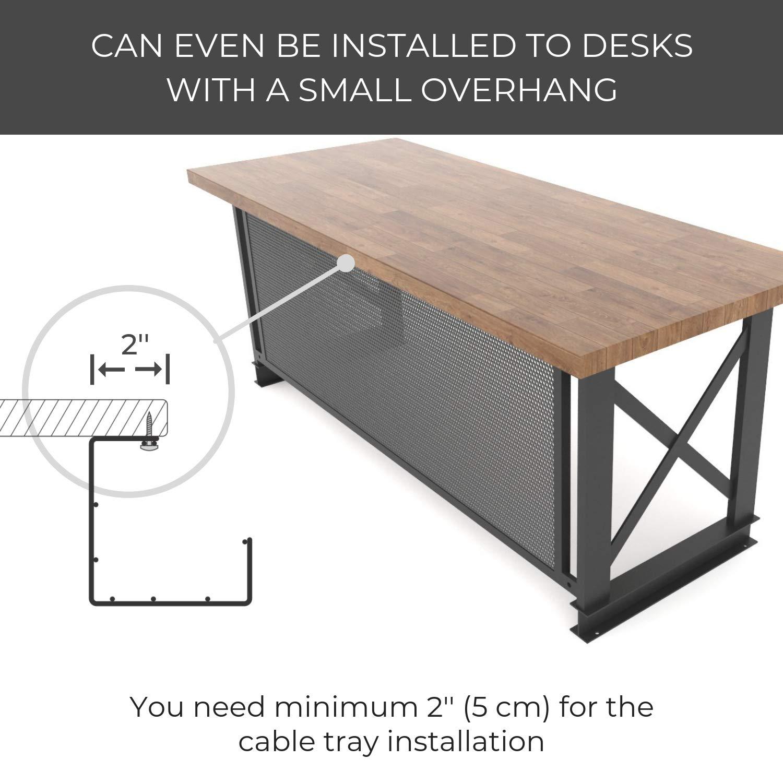 Portacavi in filo metallico per ufficio e casa organizer per riordinare i cavi Portacavi da scrivania