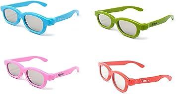 Paquete Mixto de 4 Gafas 3D Pasivo para Niños para Uso con todas ...