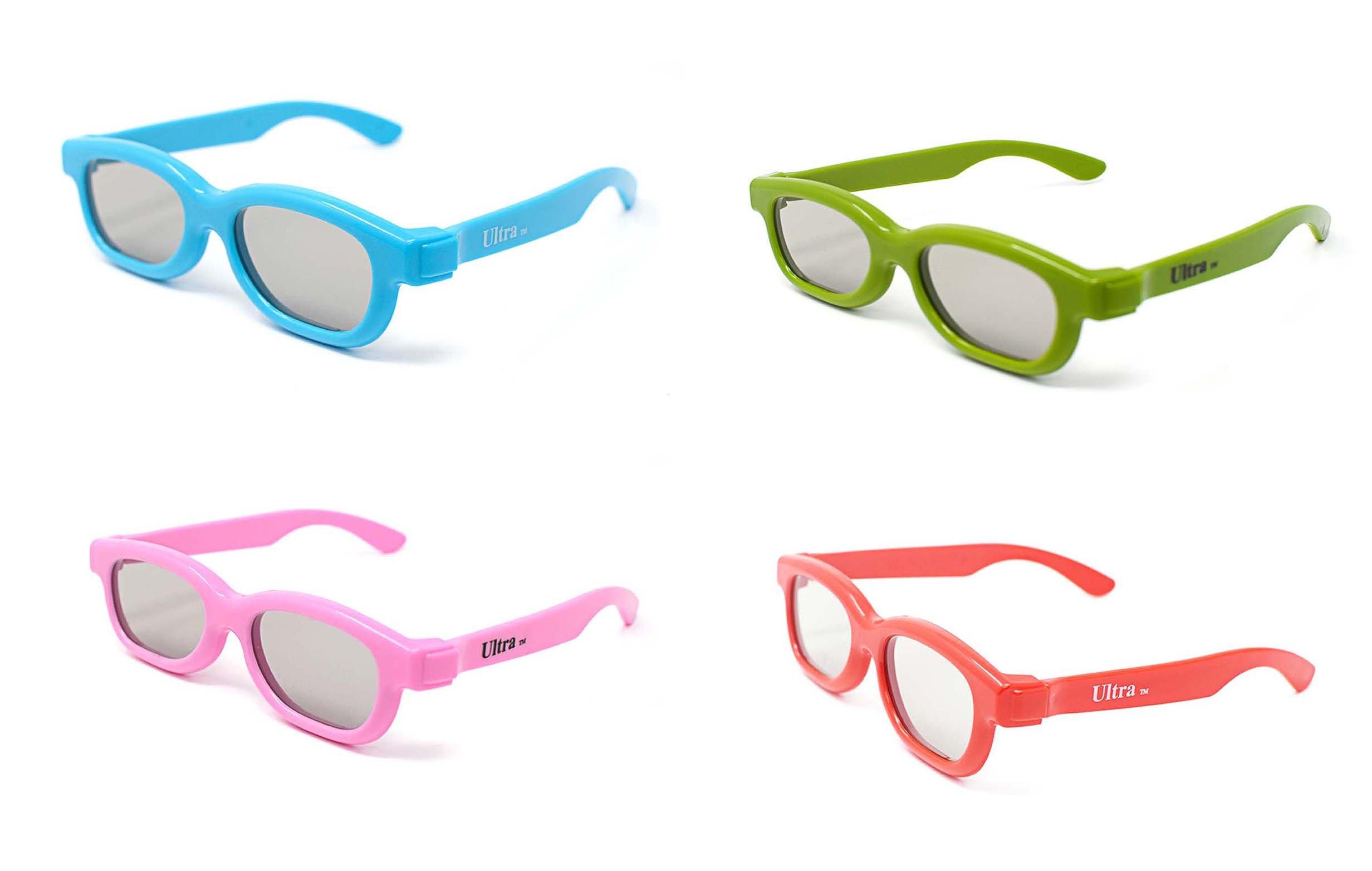 048a7610e8 Ultra - Gafas 3D pasivas universales para niños (polarizadas, 4 unidades),  color