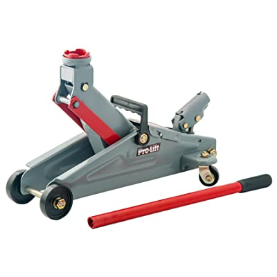 Pro-LifT F-2332 Grey Hydraulic Floor Jack - 2 Ton Capacity: Automotive
