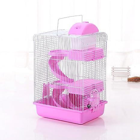 JTENGYAO jaula para hámster, ratón, lujo castillo para pequeñas ...